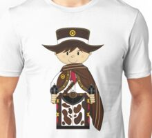 Cute Cowboy Sheriff in Poncho Unisex T-Shirt
