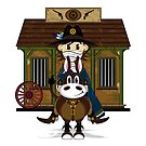 Cute Cowboy Sheriff at the Jailhouse by MurphyCreative