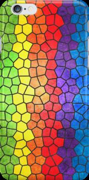 Rainbow Stained Glass by Alisdair Binning