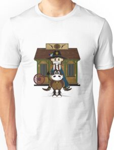 Cute Cowboy Sheriff at the Jailhouse Unisex T-Shirt