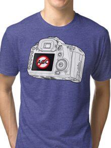 Canon 7D with AGC disable Tri-blend T-Shirt