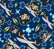 Cute Pirate Captain Pattern  by MurphyCreative