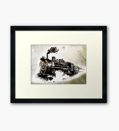 Vintage Steam Train Framed Print