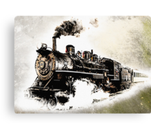 Vintage Steam Train Canvas Print