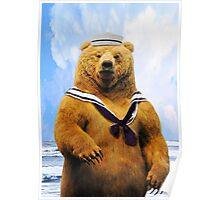 Captain Sailor Bear Poster