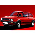 VW Golf GTI MK1 Illustration by Autographics