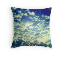 Puff Clouds Blanketing The Sky Throw Pillow