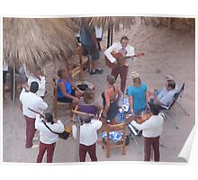 Mariachi Group at Playa Olas Altas, Puerto Vallarta, Mexico Poster