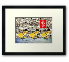 Army of Cute Ducklings Framed Print