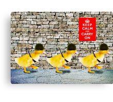 Army of Cute Ducklings Canvas Print