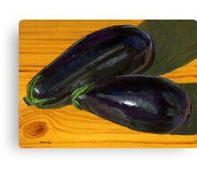 Plump, Purple Eggplants Canvas Print