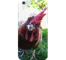 Curious chicken iPhone Case/Skin