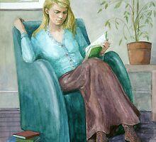 Girl Reading by Joyce Grubb