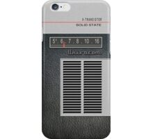 Transistor Radio - 60's Leatherette iPhone Case/Skin