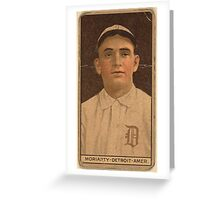 Benjamin K Edwards Collection George Moriarty Detroit Tigers baseball card portrait 002 Greeting Card