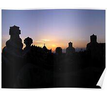 Skyline of Casa Milà Poster