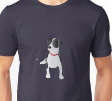 Minimalist Black and White Dog  Unisex T-Shirt