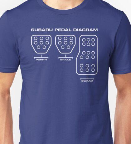 Subaru Pedal Diagram Unisex T-Shirt
