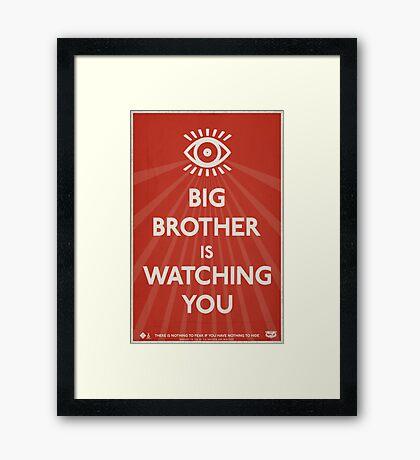 Big Brother Is Watching You Propaganda Framed Print