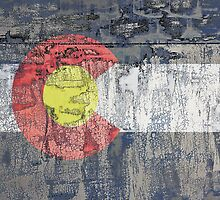 colorado flag textured wall by asyrum