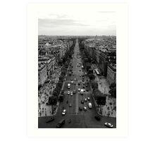 France - Paris - Champs Elysées Art Print