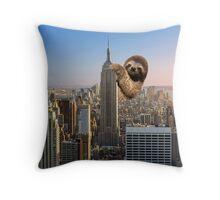 The Empire Sloth Building Throw Pillow