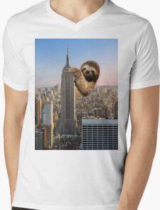 The Empire Sloth Building Mens V-Neck T-Shirt