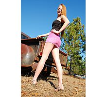Legs and rust Photographic Print