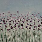Purple Wild Flowers by Deb Coats
