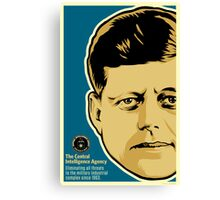 JFK CIA Canvas Print