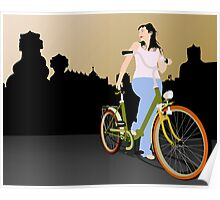 Woman in Barcelona Poster