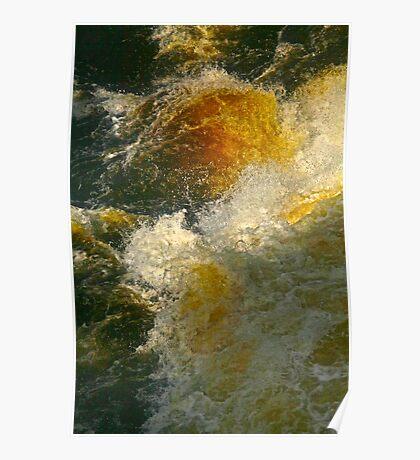 Impresionistic dellusions - Byske River . Sweden. 2011. by Brown Sugar . Poster