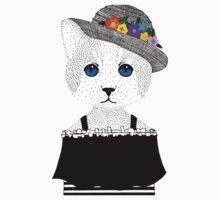 The Staring Cat & The Straw Hat Kids Tee