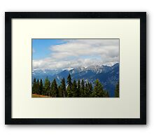 Mountains in Austria Framed Print