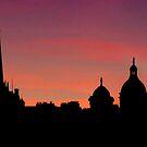 Edinburghs' Old Town at Dusk - Revisited by Den McKervey