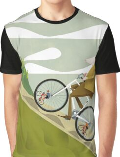 Hamster Cyclist Road Bike Poster Graphic T-Shirt