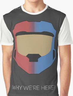 Red vs Blue Poster Graphic T-Shirt