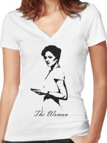 The Woman Women's Fitted V-Neck T-Shirt