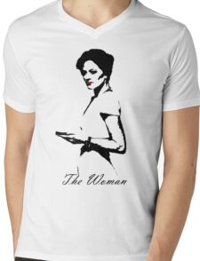 The Woman Mens V-Neck T-Shirt