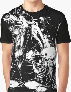 Sam & Max X Pulp Fiction (white) Graphic T-Shirt