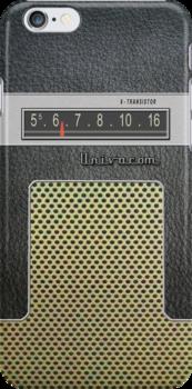 Transistor Radio - 60's Galaxy Model by ubiquitoid