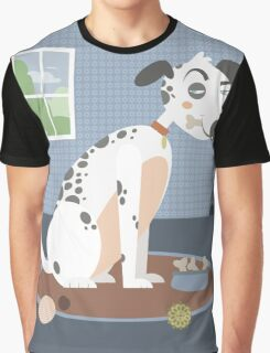 Dog with a bone in his mouth Graphic T-Shirt