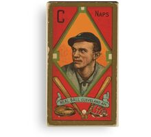 Benjamin K Edwards Collection Neal Ball Cleveland Naps baseball card portrait 001 Canvas Print