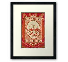 Mahatma Gandhi: Disobey Framed Print