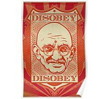 Mahatma Gandhi: Disobey Poster