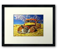 Taxi Service Framed Print