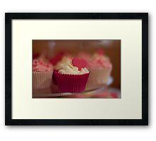 Valentine Cupcake Framed Print