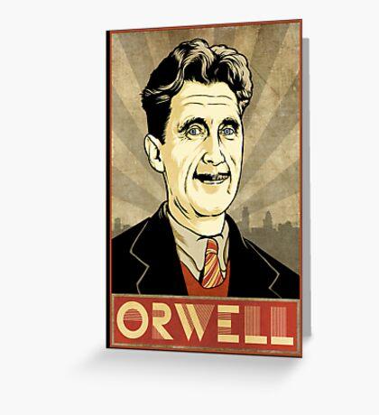 George Orwell Greeting Card