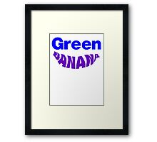 Green Banana Framed Print