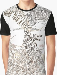 Paper Towns Movie Poster Typography (1 of 7) Graphic T-Shirt
